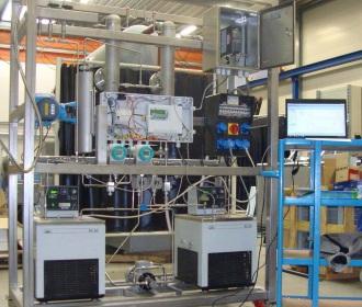 Proefopstelling slurrygenerator op de TU Delft
